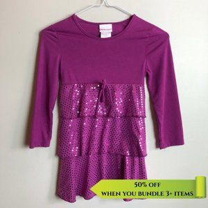 Cherokee Pink Sequin Sparkle Dress - Size 7/8